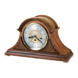 Howard Miller - 630202 Howard Miller Unique Oak Finish Chiming Mantel Clock | BARRETT II - 630202 BARRETT II
