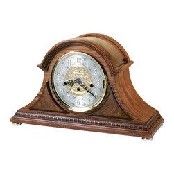 Howard Miller - 630202 Howard Miller Unique Oak Finish Chiming Mantel Clock | BARRETT II - 630202 BARRETT II