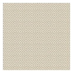 Cream Stitched Diamond Fabric - Gray embroidered diamond pattern on ivory cotton. Adds that touch of texture that every room craves.Recover your chair. Upholster a wall. Create a framed piece of art. Sew your own home accent. Whatever your decorating project, Loom's gorgeous, designer fabrics by the yard are up to the challenge!