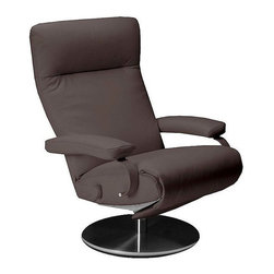 Lafer - Lafer Sumi Recliner Chair - Dark Brown - The Sumi Chair will dazzle you with its style and elegance. The ergonomic design of the chair allows one to fully recline and relax while relieving all stress. With the simple push of a button you can comfortably recline in 3 positions. Padded armrests and sleek lines will make this recliner a perfect fit for your living space.