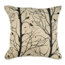 Home Decorators Collection - Branches Pillow - Almost a work of art, this serenely decorative pillow beautifully depicts branch detail over a background of natural jute. You'll find this home accent makes the most of your finishing touches to your home. Jute and cotton pillow cover. Filled with Poly fill material.