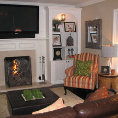 traditional family room by The Expert Touch Interiors