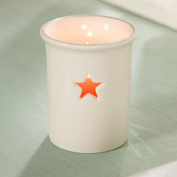 Star Votive Holder - I love the simplicity of this sweet candle holder and the star that glows out of the side.