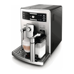 Saeco - Saeco Xelsis EVO Super Automatic Espresso Machine - Hate waking up in the morning, stumbling over to the espresso machine only to find your drink settings have been tampered with? Don't let it happen again, with the Saeco Xelsis Evo super-automatic espresso machine. This updated version of Saeco's original Xelsis espresso machine includes all of the same features boasted by the original, along with upgrades to the frothing system and drip tray. With its Multi-Function and Multi-User settings, the Xelsis Evo can be programmed to cater to the specific drink preferences of up to six different users. That means everyone in your household can create a personal profile and program their drink volume, temperature and strength settings for truly customized beverages on demand.