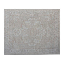 1800-Get-A-Rug - Silver Wash Heriz Hand Knotted Area Rug 100% Wool Medallion Design Sh15232 - Our Tribal & Geometric Collection consists of classic rugs woven with geometric patterns based on traditional tribal motifs. You will find Kazak rugs and flat-woven Kilims with centuries-old classic Turkish, Persian, Caucasian and Armenian patterns. The collection also includes the antique, finely-woven Serapi Heriz, the Mamluk Afghan, and the traditional village Persian rug.