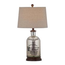 Bassett Mirror - Brasserie Mercury Glass Table Lamp - Brasserie Mercury Glass Table Lamp by Bassett Mirror