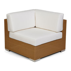 Caluco - 10 Tierra Sectional Corner - The 10 Tierra Sectional Corner combines style, durability, and comfort to provide unmatched value in outdoor seating.  Pictured in the moccaccino wicker.