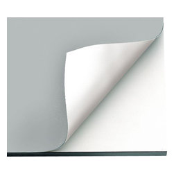 Alvin and Company - Vyco Board Cover Sheeting in Gray Color (31 in. L x 23 in. W) - Choose Size: 31 in. L x 23 in. W. On any smooth surface, Vyco vinyl covers provide an excellent workspace. In standard sizes, they're available in single sheets to fit small, medium and large drafting or drawing tables. Self-healing and flexible, they're featured in gray with reverse sides in white. Perfect, smooth, stain-resistant working surface for all drawing boards, tables, desks, filing cabinets, counter tops and shelving . Compass points, tacks and hard pencil impressions will not mar VYCO-protected surfaces – self-sealing surface recovers almost immediately . Preserves and protects expensive furniture against mars, scars, cuts, dents and prolongs the life of new boards. Will not deteriorate, discolor or crack. Easy to clean with a damp cloth or sponge. Easy to install – VYCO board cover cuts to size easily with ordinary scissors, then attaches with double-sided tape