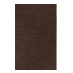 Surya Rugs - Surya SCU-7548 Sculpture Designer Hand Loomed 100% Wool Gray Rug - 100% Wool. Style: Designer. Rugs Size: 5' x 8'. Note: Image may vary from actual size mentioned.