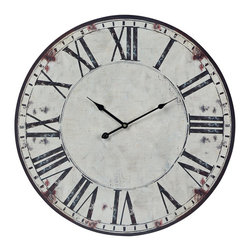 Sterling Industries - Roman Numeral Printed Clock - This Clock from the Roman Numeral Printed collection by Sterling will enhance your home with a perfect mix of form and function. The features include a White with Black Print finish applied by experts.