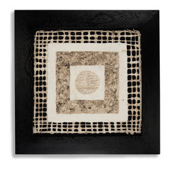 Zentique - Alyson Frame - Discover the collector in you. The abstract shapes make this wall art perfect for any room in your home. Fully framed, you just hang it.