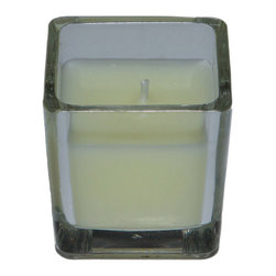 "Jeco - Ivory Square Glass Votive Candles-12pc/Box - Our square glass votive candles are hand poured with unscented paraffin wax. Our lead free wicks also give the cleanest burn possible. Glass votive candles are one of the easiest to use candles on the market. Easy to use and ready to go. PLEASE NOTE: Actual color may differ from the color shown in the image(s) due to monitor displays.; Features: Color: Ivory; 100% Handpoured.; Unscented.; Prices are per box of 12 candles; Size: 2"" Diameter x 2"" Tall; Burn Time: 10 Hours"