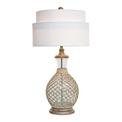 regina andrew design clear recycled glass bottle lamp lighting find lamps chandeliers and. Black Bedroom Furniture Sets. Home Design Ideas