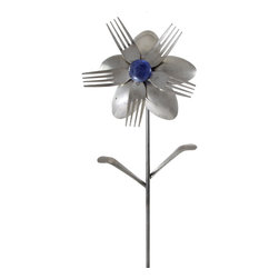 Forked Up Art - Angelia - Flower - A great display for the garden!