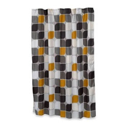Carnation Home Fashions, Inc. - Home Fashions Metro Shower Curtain - Create a beautiful focal point for your bathroom with the Home Fashions Metro shower curtain. It features a clean pattern of large, highly stylized leaves arranged in a modern, symmetrical design.