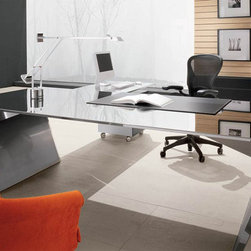 Vega Executive Office Desk By Cattelan Italia - The Vega Executive Office Desk is available in a wide selection of leather colors. Two sizes meet the dimensions of most interiors. A peninsula,drawers and pad are optional and can enhance the utility of the desk. A true work of art,it is a testament to Italian design and workmanship.