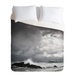 DENY Designs - Bird Wanna Whistle White Water Duvet Cover - Turn your basic, boring down comforter into the super stylish focal point of your bedroom. Our Luxe Duvet is made from a heavy-weight luxurious woven polyester with a 50% cotton/50% polyester cream bottom. It also includes a hidden zipper with interior corner ties to secure your comforter. It's comfy, fade-resistant, and custom printed for each and every customer.