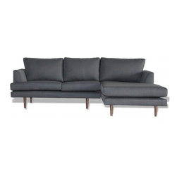 Charlie - With it's basic, tailored lines and wide stance the Charlie sofa, sectional or chair can accommodate a family gathering just as well as a lazy Sunday nap. A tapered leg and angled arm give the Charlie a light open feel.