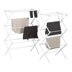 Folding Drying Racks - Save a few bucks on your electric bill and keep your favorite items from shrinking with this foldable drying rack. It folds flat for storage so that you can tuck it right beside the washing machine.