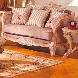 McFerraan Home Furnishing - Traditional Upholstered End Table - RT1255-C - McFerraan Home Furnishing - Traditional Upholstered End Table