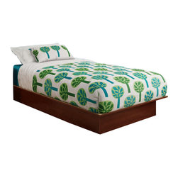 South Shore - South Shore Libra Twin Platform Bed in Royal Cherry - South Shore - Kids Beds - 3046235 - This twin platform bed (39'') in a contemporary style features simple lines that will blend right into any d��cor and rounded corners for safety.