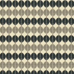 Sinous Fabric by Robert Allen - This geometric print by Robert Allen has a mid-century modern feel and provides an interesting rhythm to any palette.