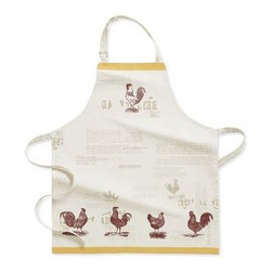 Farmhouse Rooster Apron - Show who's rooster in the kitchen when you wear this apron!