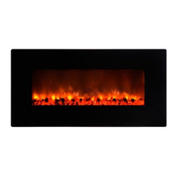 Yosemite Home Decor - Carbon Flame 35 - Yosemite Home Decor - Carbon Flame 35 is a perfect addition to a contemporary or modern interior. It is very easy to install  as easy as hanging artwork or a picture frame thus making it easy for you to move it around to a suitable placement. The height and intensity of the flames produced by the DF-EFP900 can be controlled with the included remote. The ambiance of the room is in your power. Yosemite Home Decor's Carbon Flame 35 is a simple, yet powerful and gorgeous inclusion to any room.