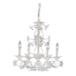 Crystorama Lighting - Crystorama Lighting 5404-AW Abbie Eclectic / Youth Mini Chandelier - Crystorama Lighting 5404-AW Abbie Eclectic / Youth Mini Chandelier In Antique White With Clear Hand Cut Crystal