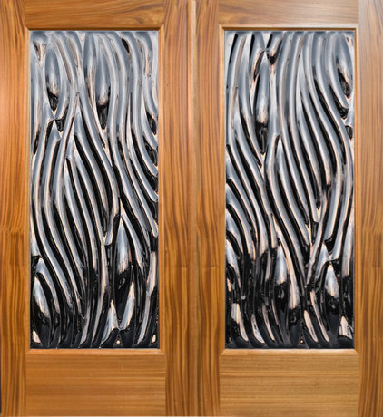 Tropical Front Doors by Sculptural Glass Doors Inc