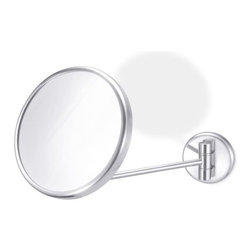 "ZACK - Foccio Swiveling Wall Mirror - Features: -Designed in Germany. -Swivel function -Wall mountable. -6.7"" Diameter."