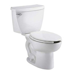 "American Standard - American Standard 2467.100.020 Cadet FloWise Pressure Assisted EL Toilet, White - American Standard 2467.100.020 Cadet FloWise Right Height Pressure Assisted EL Toilet (1.1 gpf/4.2 Lpf FloWise), White. This high-efficiency elongated toilet features a 12"" Rough-in, an EverClean surface to prevent bacteria, mold, and mildew growth, a pressure-assisted siphon jetted flush action bowl, a 16-1/2"" rim height, a fully-glazed 2-1/8"" trapway, a closed-coupled tank, a chrome-plated trip lever, a Speed Connect tank/bowl coupling system, and 2 bolt caps."