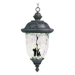 Maxim Lighting - Maxim Lighting Carriage House VX Traditional Outdoor Hanging Light X-BOGW82404 - Maxim Lighting's Carriage House VX Traditional Outdoor Hanging Light features an Oriental Bronze finish and Water Glass. It is made with Vivexa, a non-corrosive and UV resistant material, and comes with a 3-Year Limited Warranty. This outdoor hanging light is the new standard in outdoor lighting, and boast a winning combination of innovation, intricate design, quality construction, and an astonishing finish.
