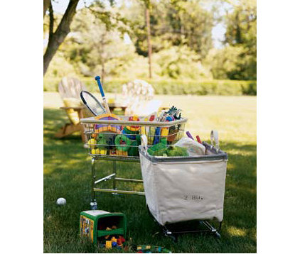 traditional  Outside toys idea -cleanup cart
