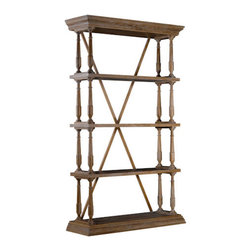 Curations Limited - Natural Cross Bookshelf -