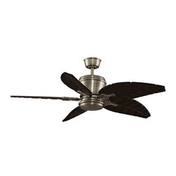 Fanimation - Fanimation Sandella DC Motor Tropical Ceiling Fan X-BA0623DAM - Height : 18.3""