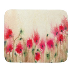 Brazen Design Studio - Mousepad - Field of Poppies Floral Painting - Art for Home or Office - Spice up your desk or work areas with this beautiful and colorful piece of art on a mouse pad! These mouse pads are top-quality and measure approximately 9.25��_ by 7.75��_ and 1/4��_ thick with a rubber base. They are heavy duty and meant to last.