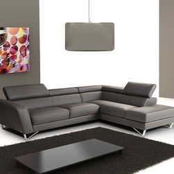 Advanced Adjustable Sectional Upholstered in Real Leather - Dimensions: