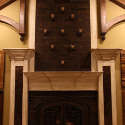 Custom Fireplace - Space by Architectural Justice