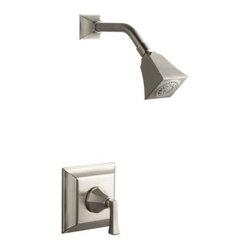 KOHLER - KOHLER K-T462-4V-BN Memoirs Rite-Temp Pressure-Balancing Shower Faucet Trim - KOHLER K-T462-4V-BN Memoirs Stately Rite-Temp Pressure-Balancing Shower Faucet Trim with Deco Handle in Brushed Nickel