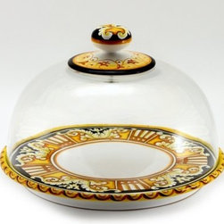 Artistica - Hand Made in Italy - Deruta Vario: Domed Cake/Cheese Platter - Deruta Vario Collections:
