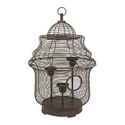 IMAX CORPORATION - CKI Westinford Birdcage Candleholder - The Westinford birdcage is transformed into an oversized candleholder by designer Carolyn Kinder. Holds pillar candles. Find home furnishings, decor, and accessories from Posh Urban Furnishings. Beautiful, stylish furniture and decor that will brighten your home instantly. Shop modern, traditional, vintage, and world designs.