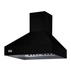 """Viking 36"""" Wall Mount Chimney Range Hood, Black 