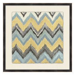 "Wendover Art - ""Neutral Ikat 9"" Art Print - This striking Giclee on Paper print adds subtle style to any space. A beautifully framed piece of art has a huge impact on a room for relatively low cost! Many designers and home owners select art first and plan decor around it or you can add artwork to your space as a finishing touch. This spectacular print really draws your eye and can create a focal point over a piece of furniture or above a mantel. In a large room or on a large wall, combine multiple works of art to in the same style or color range to create a cohesive and stylish space! This striking image is beautifully framed in matte black."