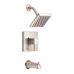 DANZE INC - 1 Handle Lever Tub and Shower Trim Brushed Nickel 2.5 GPM -