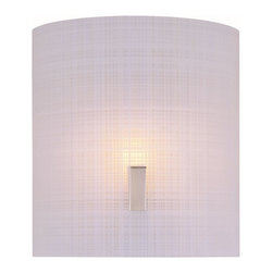 Lite Source - Lite Source Nimbus II Modern / Contemporary Wall Sconce XSL-ORF/SP3961 - Like a linen sheet, this contemporary wall pendant is fresh and gives the appearance of pressed comfort so you'll rave about the elegance and tidy style. The frost shade kicks out bright and snazzy sparkle for your hall, office, den, dining room, kitchen, lounge, pantry, office, bomb shelter, foyer, bungalow, or apartment. The polished steel finish is superior, neat, and funky chic.