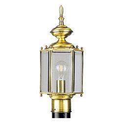 Progress Lighting - Progress Lighting P5430-10 BrassGUARD Lantern 1 Light Outdoor Post Light - Progress Lighting P5430-10 BrassGUARD Lantern 1 Light Outdoor Post Light In Polished Brass