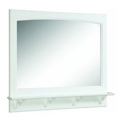 DHI-Corp - Concord White Gloss Mirror With Shelf - The Design House 539940 Concord White Gloss Mirror with Shelf features a durable white gloss finish and 4-inch shelf. Measuring 37.8-inches by 4-inches by 31-inches, this mirror features clean lines and is perfect for a relaxed country style home. Decorate your bathroom by adding candles, small vases or nick-knacks along the shelf. This small, sturdy shelf could also be used as extra storage for a toothbrush holder, lotions or soap. Easily apply makeup or shave in the morning with this large mirror. Modern construction meshes with subtle vintage details for an elegant addition to your bathroom. This product is perfect for remodeling your bathroom and can match a variety of vanities, countertops and furnishings. The Design House 539940 Concord White Gloss Mirror with Shelf has a 1-year limited warranty that protects against defects in materials and workmanship. Design House offers products in multiple home decor categories including lighting, ceiling fans, hardware and plumbing products. With years of hands-on experience, Design House understands every aspect of the home decor industry, and devotes itself to providing quality products across the home decor spectrum. Providing value to their customers, Design House uses industry leading merchandising solutions and innovative programs. Design House is committed to providing high quality products for your home improvement projects.