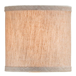 Currey & Company - Natural Linen Shade - Decorative shade