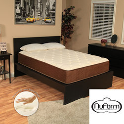 NuForm - NuForm 11-inch Full-size Memory Foam Mattress with Two Bonus Memory Foam Pillows - This 11-inch thick NuForm luxury Memory Foam mattress is designed to provide a plush feel for a more comfortable sleep experience. Memory Foam conforms to the body and help rejuvenate tired muscles. Comes with two Memory Foam pillows.